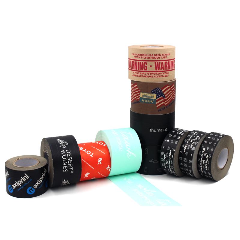 满版彩印湿水牛皮纸胶带