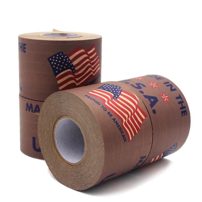 """""""美国制造""""有线湿水牛皮纸胶带"""